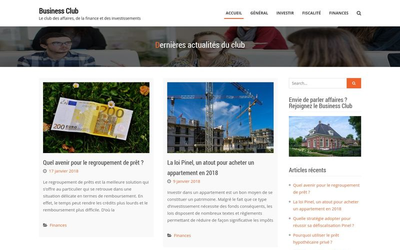 Business Club : le club des affaires, de la finance et des investissements